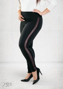 Legginsy OLIVIA STYLING  red PLUS SIZE XXL-XXXXL