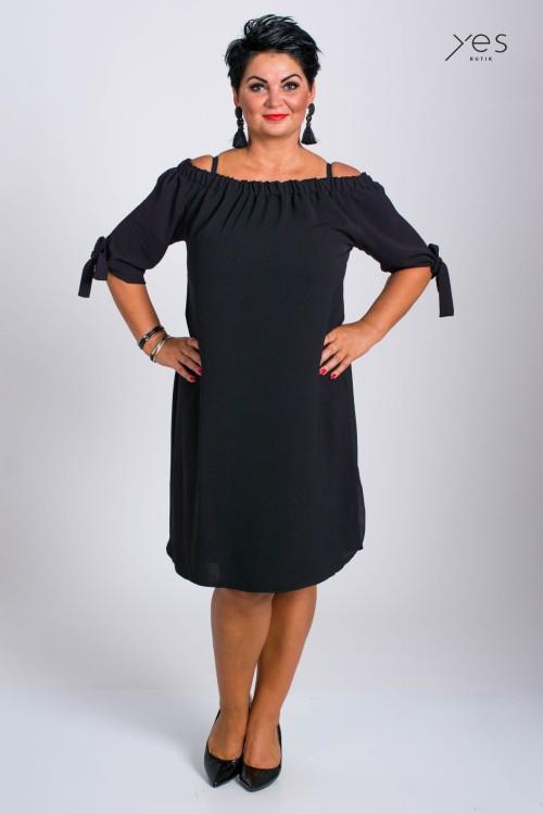 aba1bc057a Sukienka Hiszpanka MARAYAH czarna Plus Size 42 50 Butiknaplus.pl